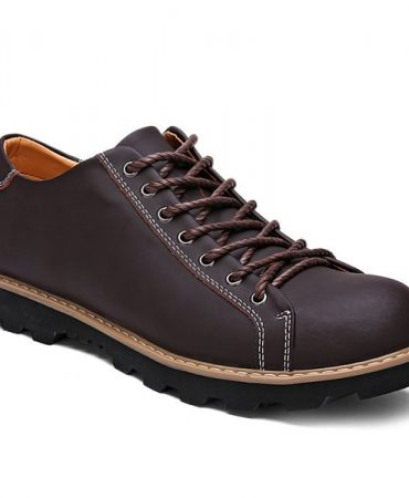 Fashion Trendy All Season Leather Casual Shoes
