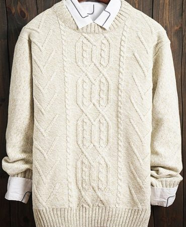 Fashion Trendy Crew Neck Male Sweater