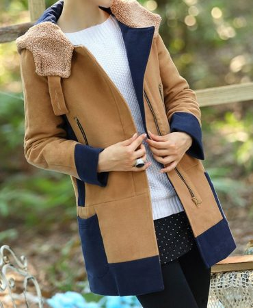 Camel Casual Cotton Blend Hooded Padded Long Winter Trendy Women Coat