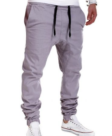 Fashionable Cotton Blends Gentlemans Jogger Pants