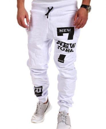 Casual Cooton Blends Printed Mens Jogger Pants
