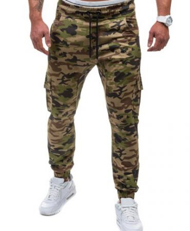 Cotton Pokets Active Mens Camouflage Pants