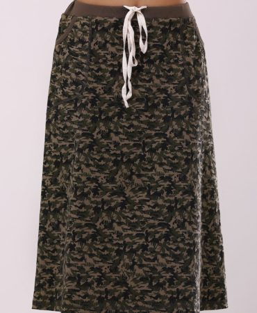 Army Green Camouflage Skirt for Women