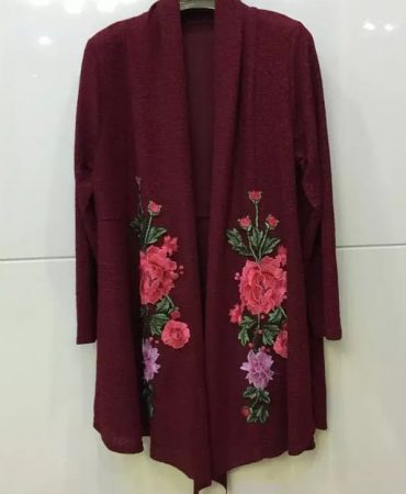 Flowers Design Fashion Fall Spring Womens Kimono Cardigan