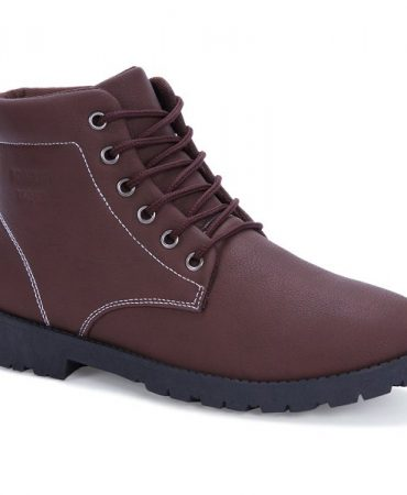 Pu Leather Vintage Mens Boots