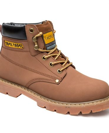 Leather Solid Work Boots for Mens