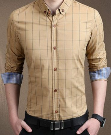 Polyester Casual Trendy Mens Buttons Shirt