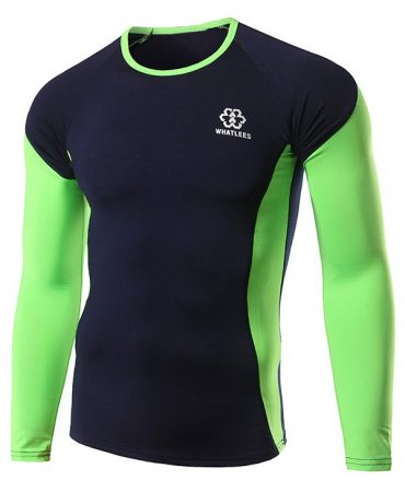 Long Sleeve Polyester Sports Mens Training T Shirt