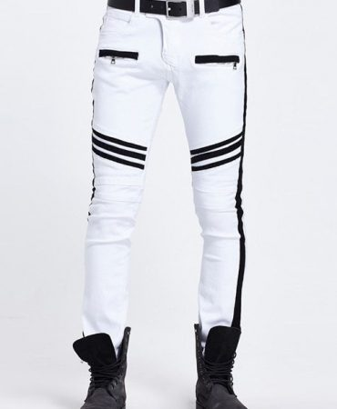 Black and White Fashionable Trendy Mens Jeans Pants