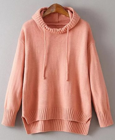 Casual Solid Colour Trendy Hooded Pullover