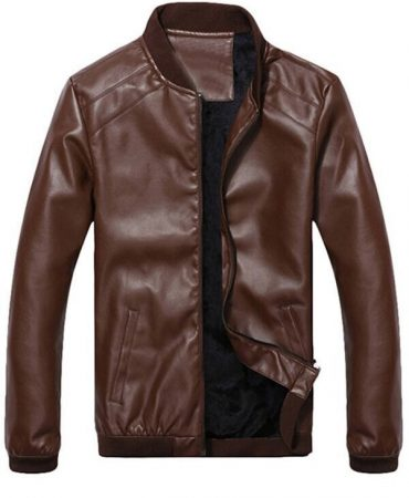 Suede Fashion Leather Mens Jacket
