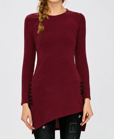 Trendy Asymmetric Pullover Knitwear for Women
