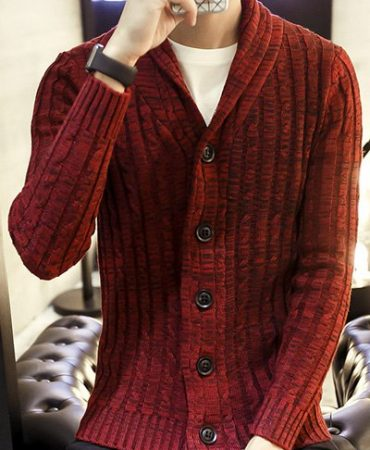 Casual Knitted Trendy Gentlemans Cardigan