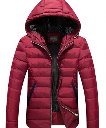 Long Winter Hooded Quilted Jacket