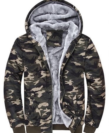 Camouflage Cotton Thermal Mens Hoodie