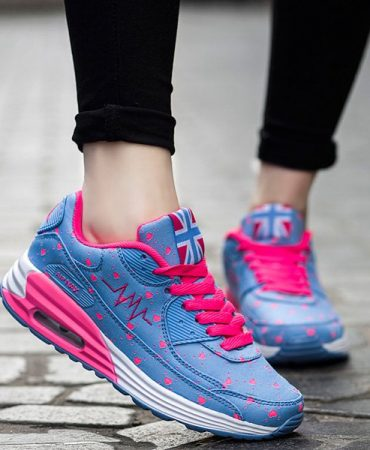 Trendy Heart Design Fashion Athletic Shoes