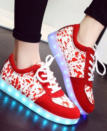 Fashion Trendy Lighted Womens Sneakers