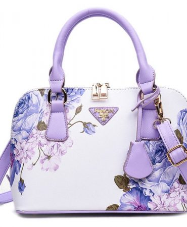 Elegant Fashion Floral Design Trendy Pu Leather Bags for Womens