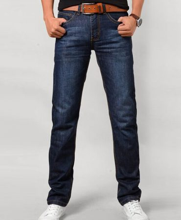 Classic Cotton Zipper Fly Mens Denim Jeans Pants