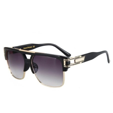 Black Fashion Hollow Design Mens Sunglasses