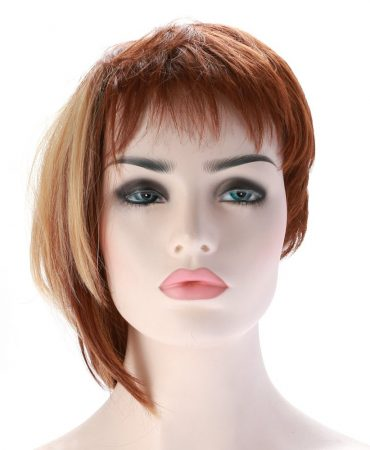 Short Synthetic Blonde Straight Style Wigs for Ladies