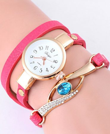 Fashion Casual Pu Leather Bracelet Watch for Women