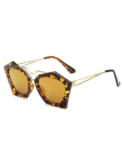 Gold Color Elegant Trendy Sunglasses for Women