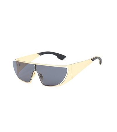 Golden Color Trendy Unisex Fashion Sunglasses