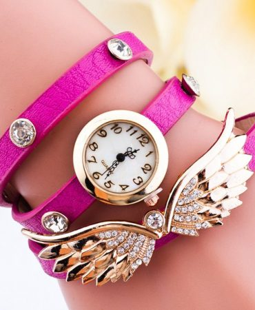 Angel Design Rhinestone Ladies Bracelet Watch