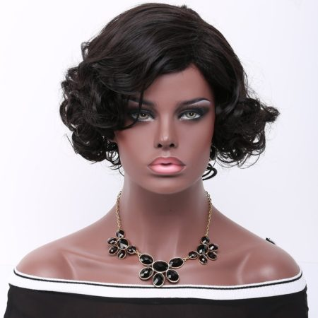 Short Black Fashion Synthetic Wig for Womens