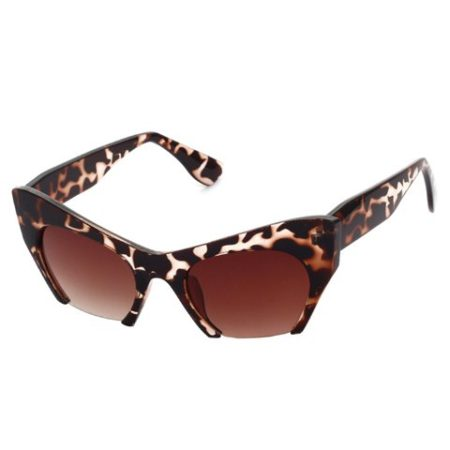 Deep Brown Cat Leopard Design Womens Sunglasses