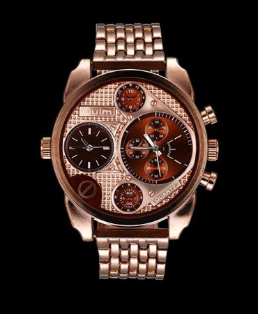 Red Bronzed Modern Casual Quartz Watch for Mens