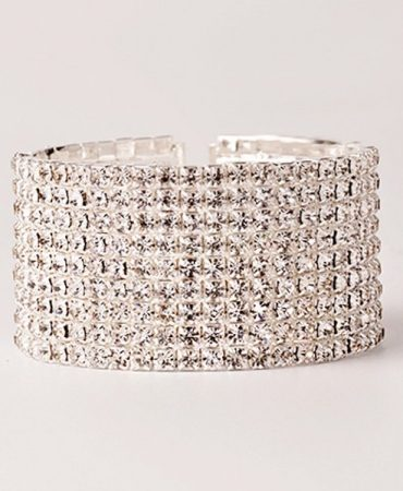 Fashion Elegant Rhinestoned Womens Wide Bracelet