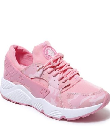 Breathable Spring Fall Lace Up Fashion Trendy Womens Sneakers