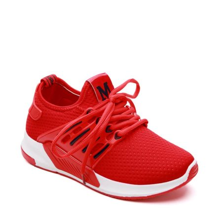 Cloth Lace Up Breathable Fashion Womens Athletic Shoes