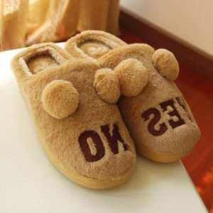 Winter Leisure Embroidery Flock Mens Slippers