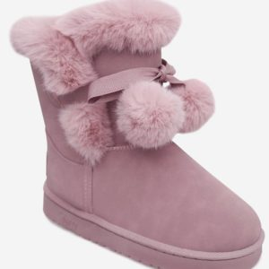 Suede Slip-On Fall Winter Womens Ankle Snow Boots