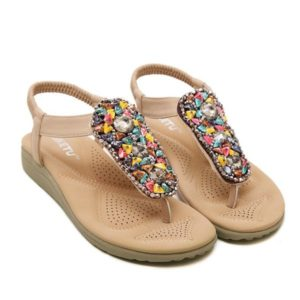 Casual Pu Leather Leisure Flat Heel Womens Sandals