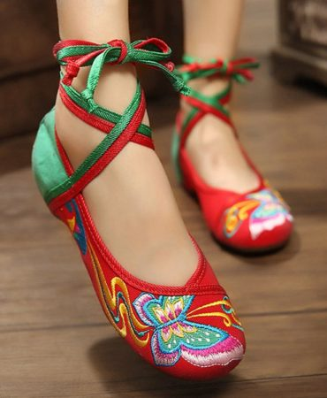 Canvas Casual Spring Summer Trendy Red Wedge Shoes