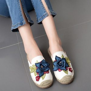 Summer Floral Fashion Outdoor Espadrilles for Womens