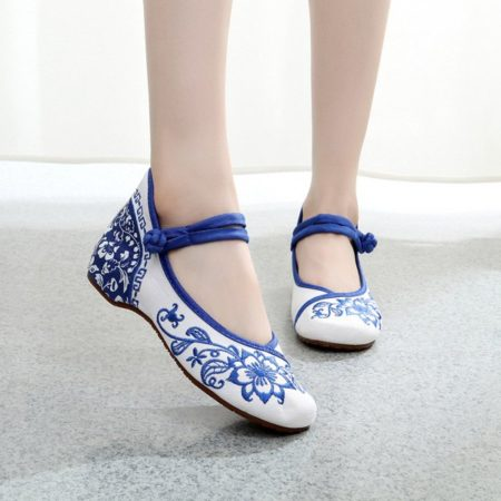 Casual Canvas Spring Summer Womens Wedge Shoes