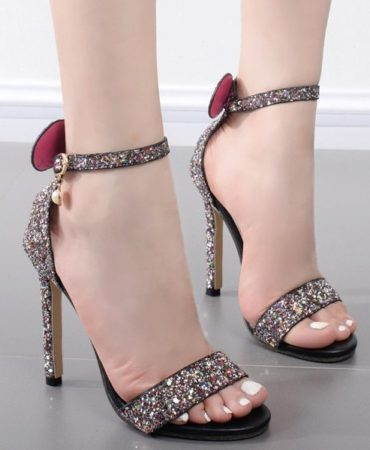 Fashion Party Sequined Cloth Pearl Womens Sandals