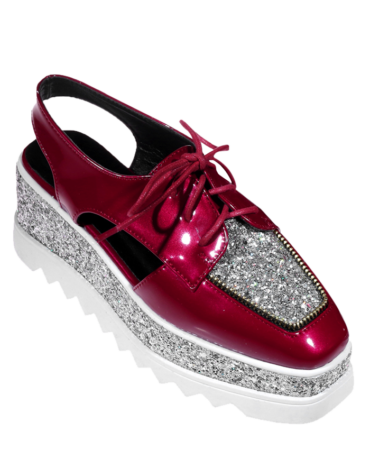 Casual Patent Leather Summer Platform Shoes
