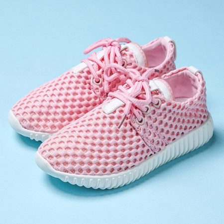 Spring Fall Mesh Lace-Up Fashion Trendy Girls Athletic Shoes