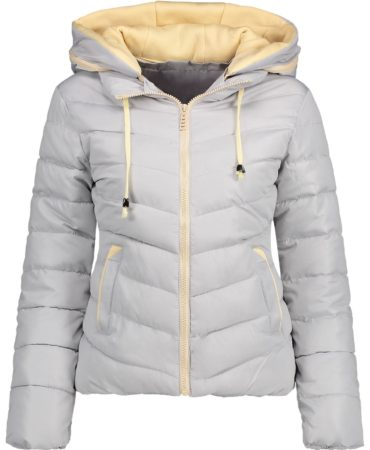 Fall Spring Trendy Hooded Padded Womens Jacket