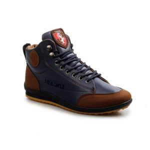 Fall Winter Lace-Up Pu Leather Fashionable Mens Sneakers Boots