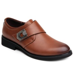 Solid Fall Spring Pu Leather Dress Shoes for Mens