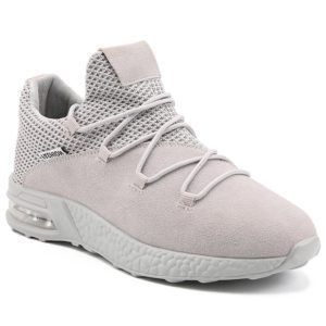 Breathable Mesh Suede Mens Athletic Shoes