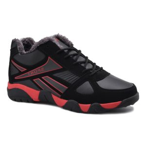 Outdoor Casual Winter Pu Leather Solid Mens Athletic Shoes