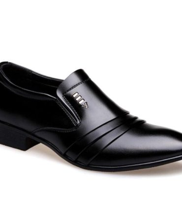 Solid Slip-On Pu Leather Spring Summer Mens Formal Shoes